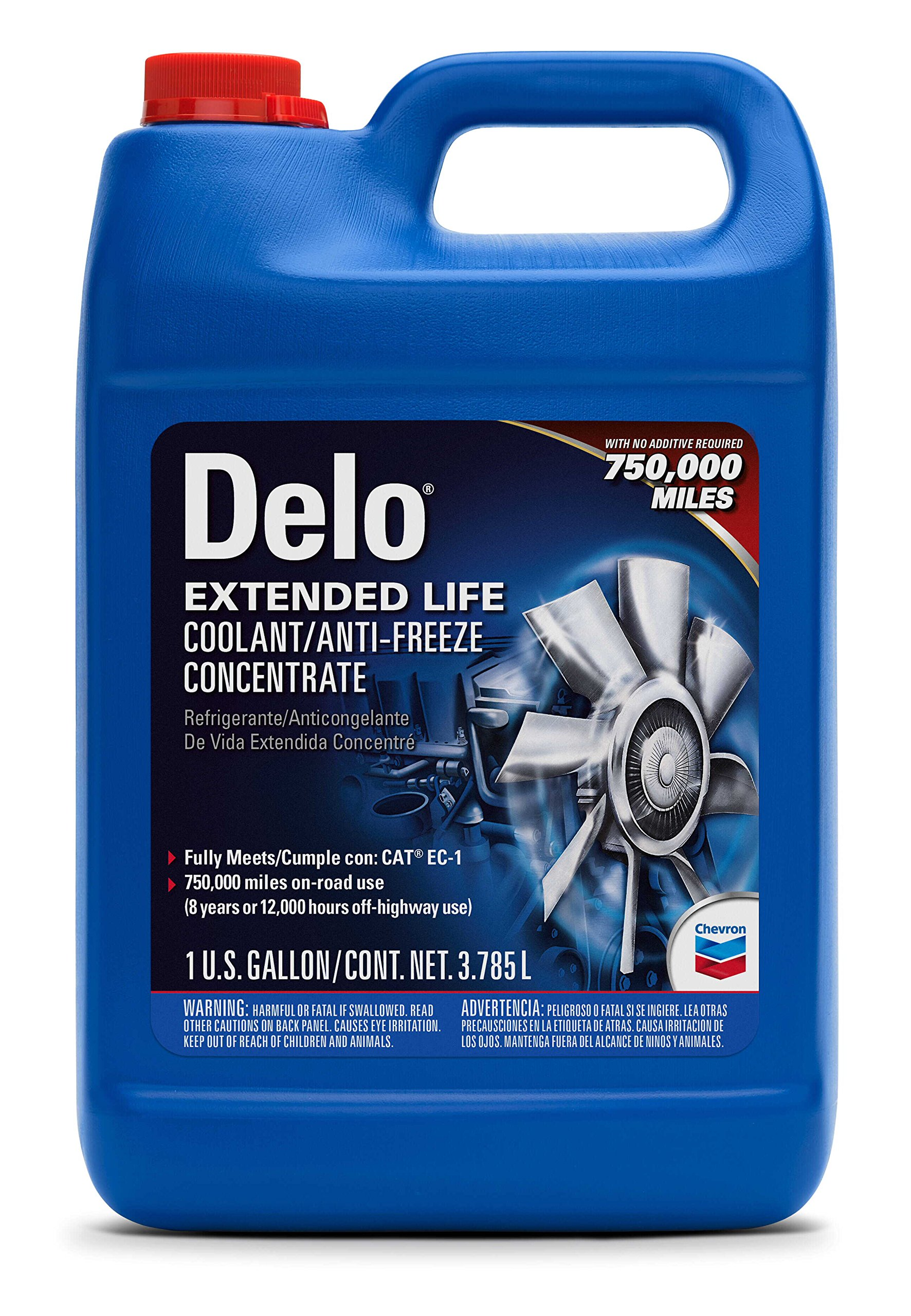 Delo Extended Life Antifreeze/Coolant - 1 Gallon, (Pack of 6) by Delo