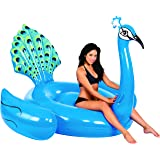 Kangaroo Pool Floats; Giant Peacock Pool Raft, 7' Pool Float, 87""