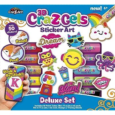 Cra-Z-Art CRA-Z-Gels Deluxe Set DIY Sticker Kit: Toys & Games