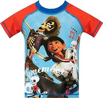 Disney Bañador de Dos Piezas para niño Coco Azul 6-7 Años: Amazon ...