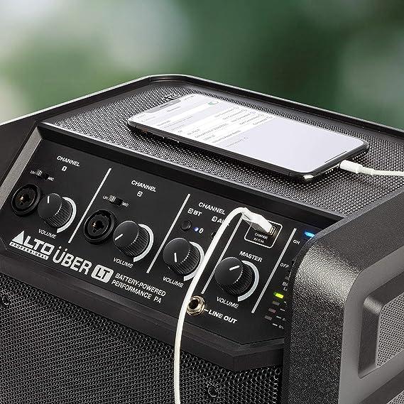 Alto Professional Uber Lt Bluetooth Lautsprecher 50 Watt Mit Xlr Und Line Eingang Wiederaufladbare Batterie