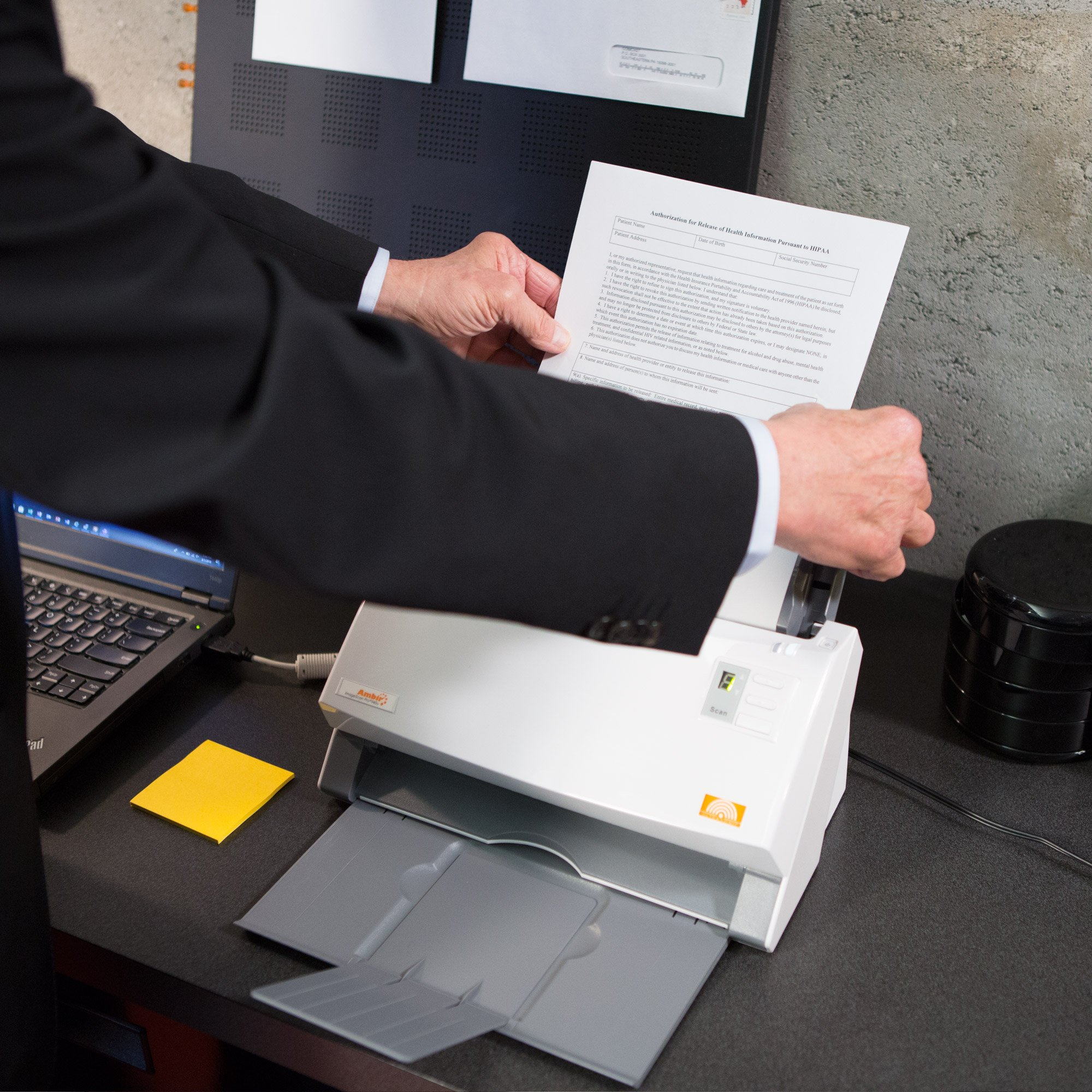 Ambir ImageScan Pro 940-NP 40ppm High-Speed Document Scanner with Full Version of Nuance Power PDF Software (DS940-NP) by Ambir (Image #3)