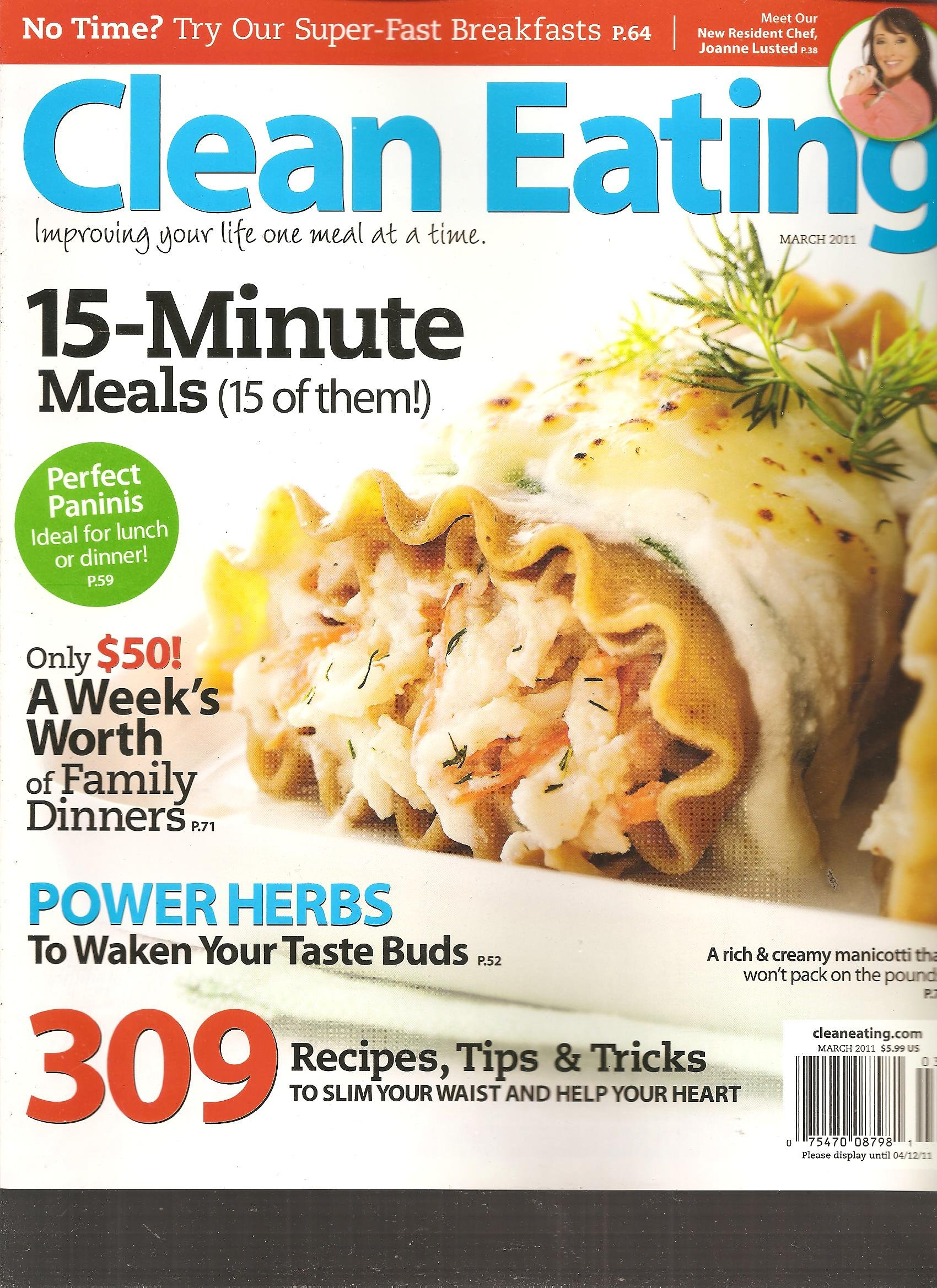 Clean Eating Magazine (15 Minute meals, March 2011) ebook