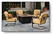 5pc Florine Outdoor Patio Fire Pit Table Seating Set