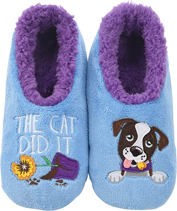 Black Cat, Snoozies Toddler Animal Head Coral Fleece Slippers