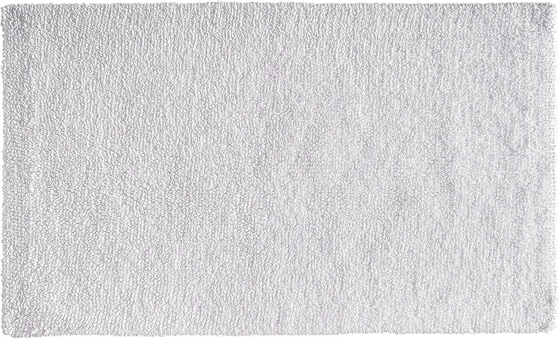 "AmazonBasics Everyday Cotton Bath Rug, 17"" x 24"", White"