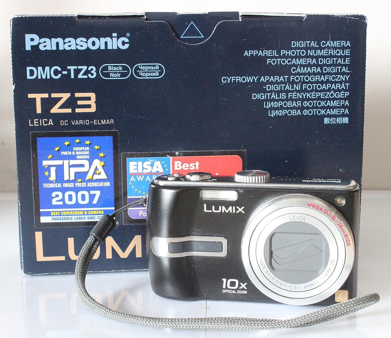 Panasonic Lumix DMC-TZ3 Digital Camera - Black: Amazon.co.uk: Camera & Photo