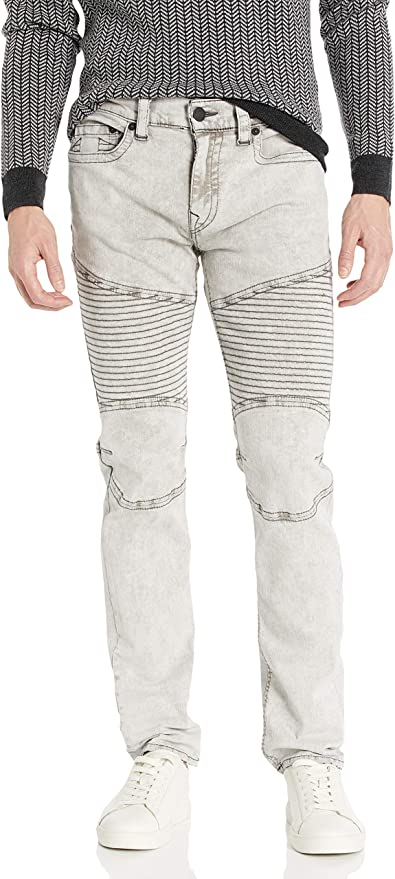 True Religion 真实信仰 Rocco Moto 修身款 机车风格 男式牛仔裤 2.4折$42.97 海淘转运到手约¥350