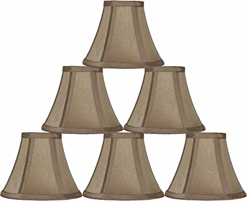 Urbanest 6-inch Chandelier Lamp Shade, Golden Taupe, Set of 6