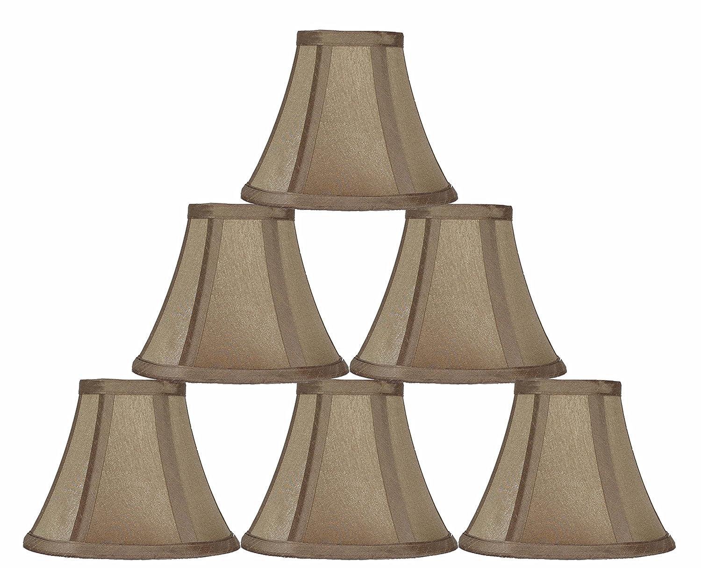 urbanest 6 inch chandelier lamp shade golden taupe set of ebay. Black Bedroom Furniture Sets. Home Design Ideas