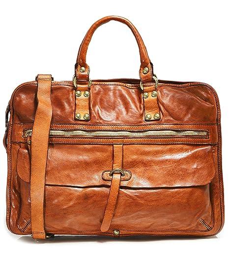 e79c92260342 Campomaggi Men's Leather Professional Shoulder Bag One Size Cognac ...