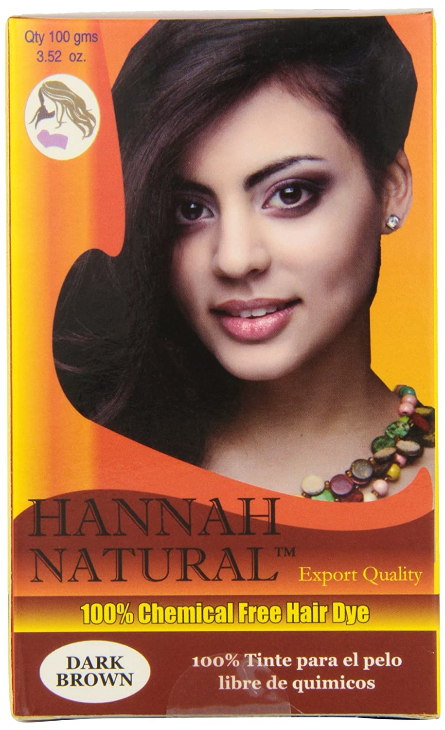 Hannah Natural 100-Percent Chemical Free Hair Dye, Dark Brown, 100 Gram Han-0764