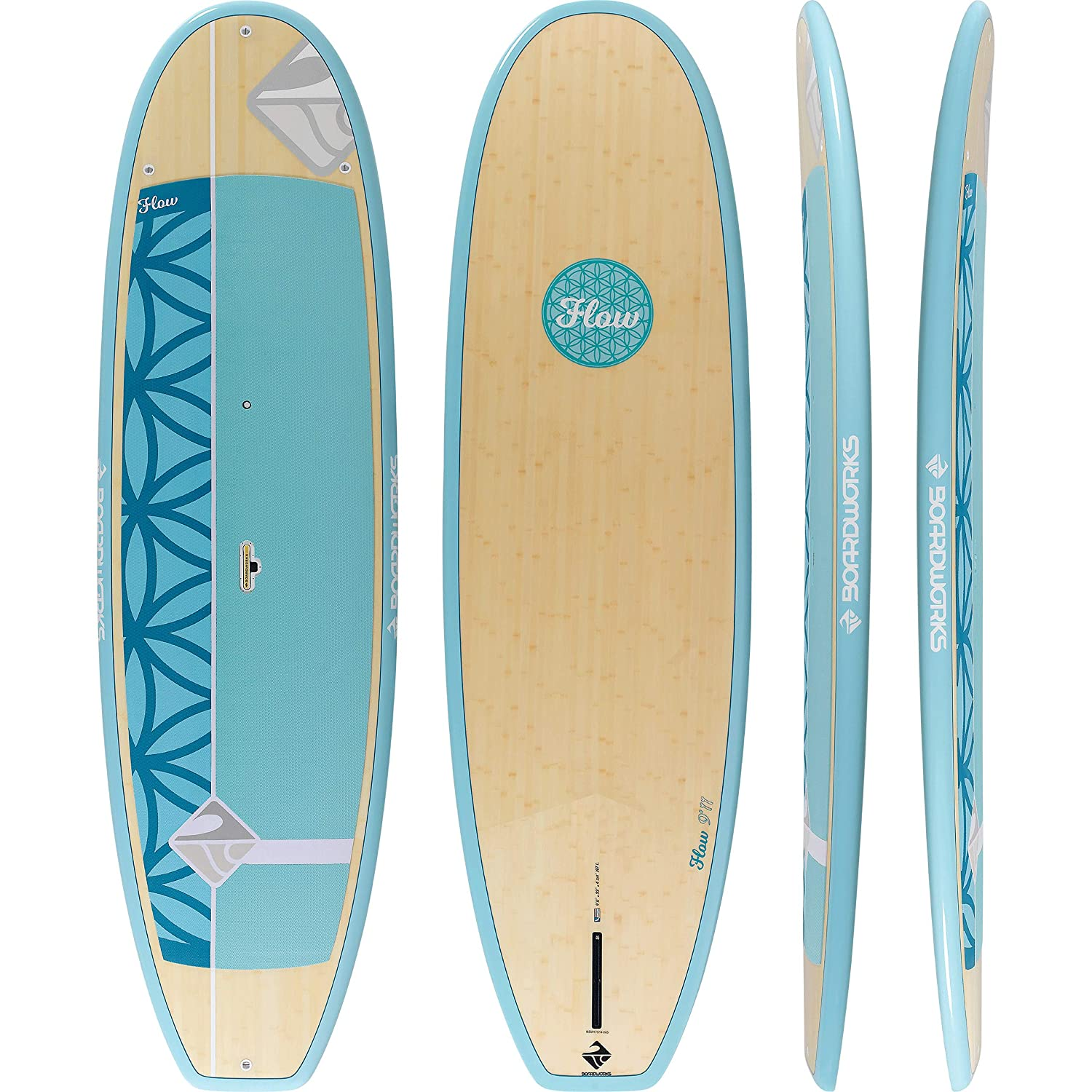Amazon.com : Boardworks Flow All-Water Yoga Stand-Up Paddle ...