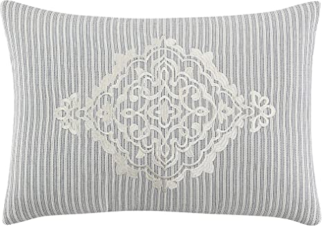 Amazon Com Veratex La Vida 14 X 20 Diamond Pillow Silver Home Kitchen