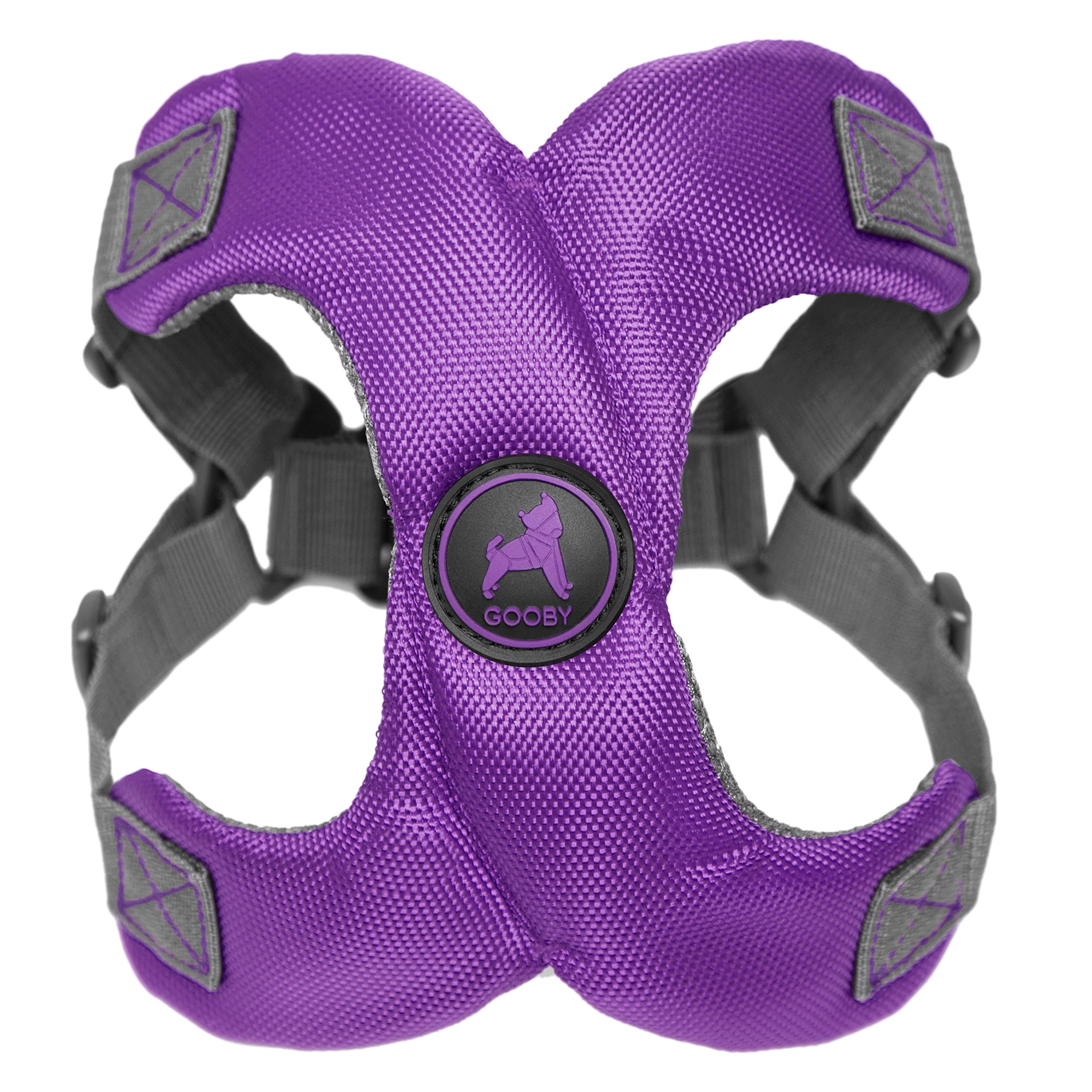 [Old Version] Gooby Escape Free Memory Foam Harness for Small Dogs, Purple, Medium by Gooby
