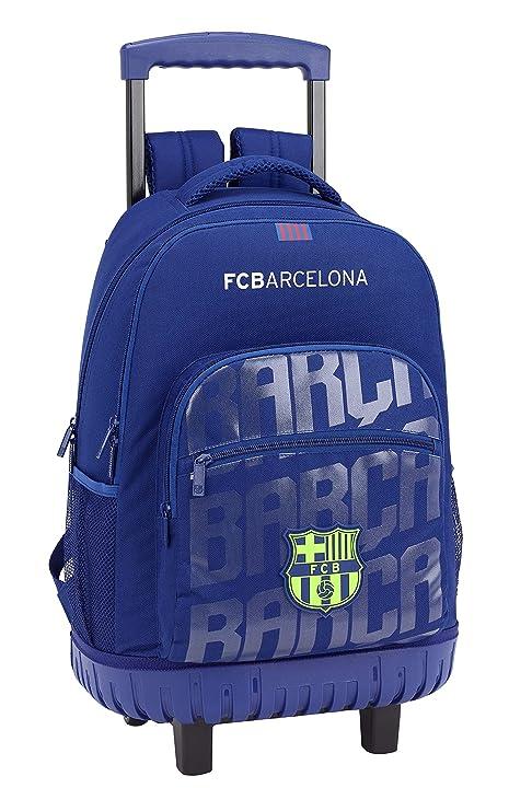 c9cf9e47d38 FC Barcelona Mochila Grande con Ruedas Carro Fijo
