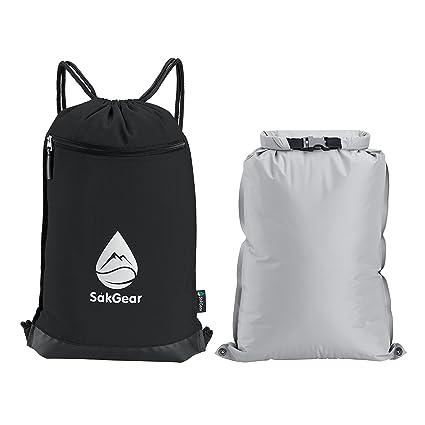 0ec72f6923a4 Såk Gear GymSak - 2-in-1 Drawstring Gym Bag with Removable Waterproof Bag