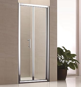 900 mm fácil de limpiar para mampara de ducha de Bi-plegable con 6 mm vidrio de seguridad templado: Amazon.es: Bricolaje y herramientas