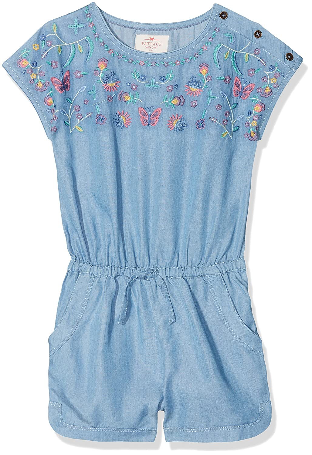 Fat Face Girl's Embroidered Playsuit Overalls 932323