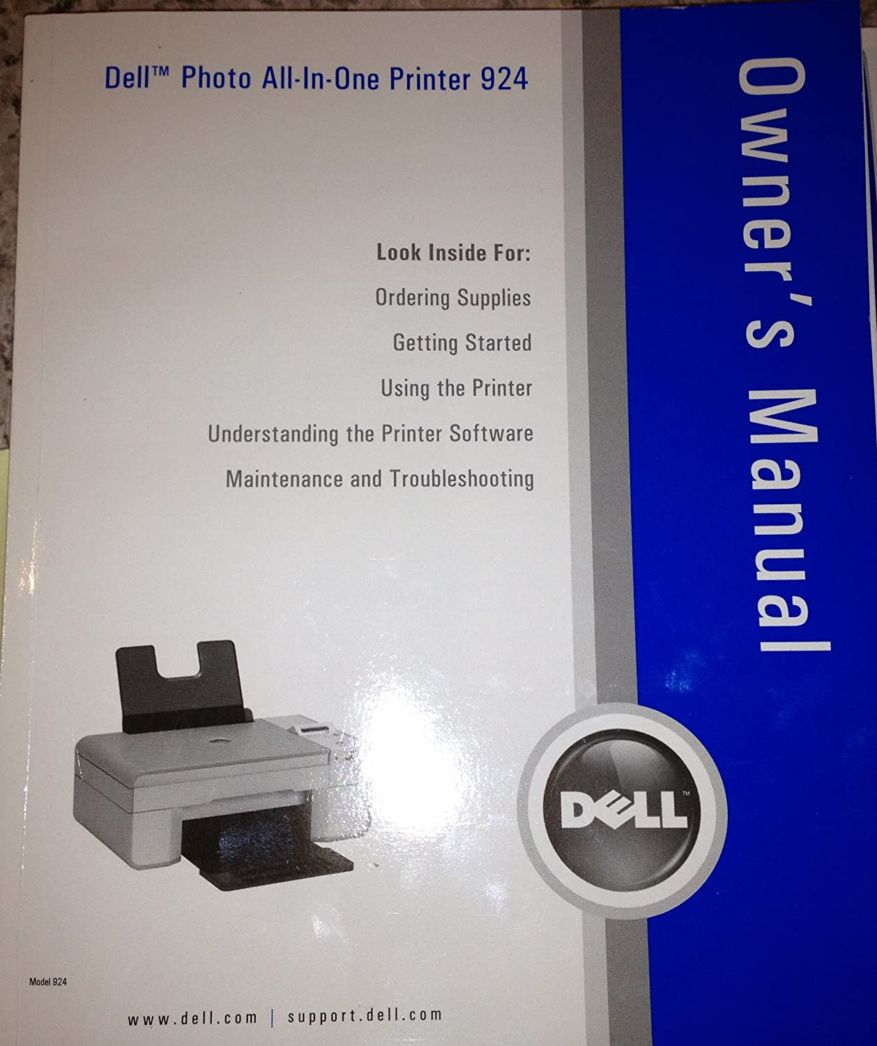 Amazon.com : Dell Photo All-in-one Printer 924 Owner's Manual : Other  Products : Everything Else