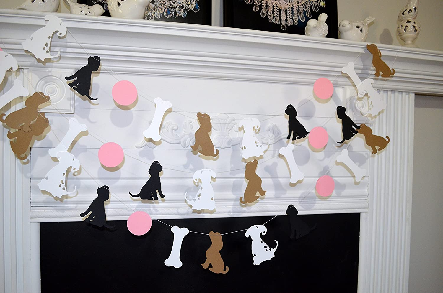 Amazon Puppy Birthday Party Decorations Garland
