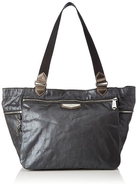 Kipling - Boudicca, Bolsos maletín Mujer, Grau (Night Metal), 46x28x18 cm