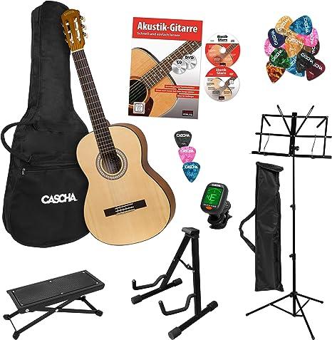 CASCHA Student Series - Set de guitarra de concierto para ...