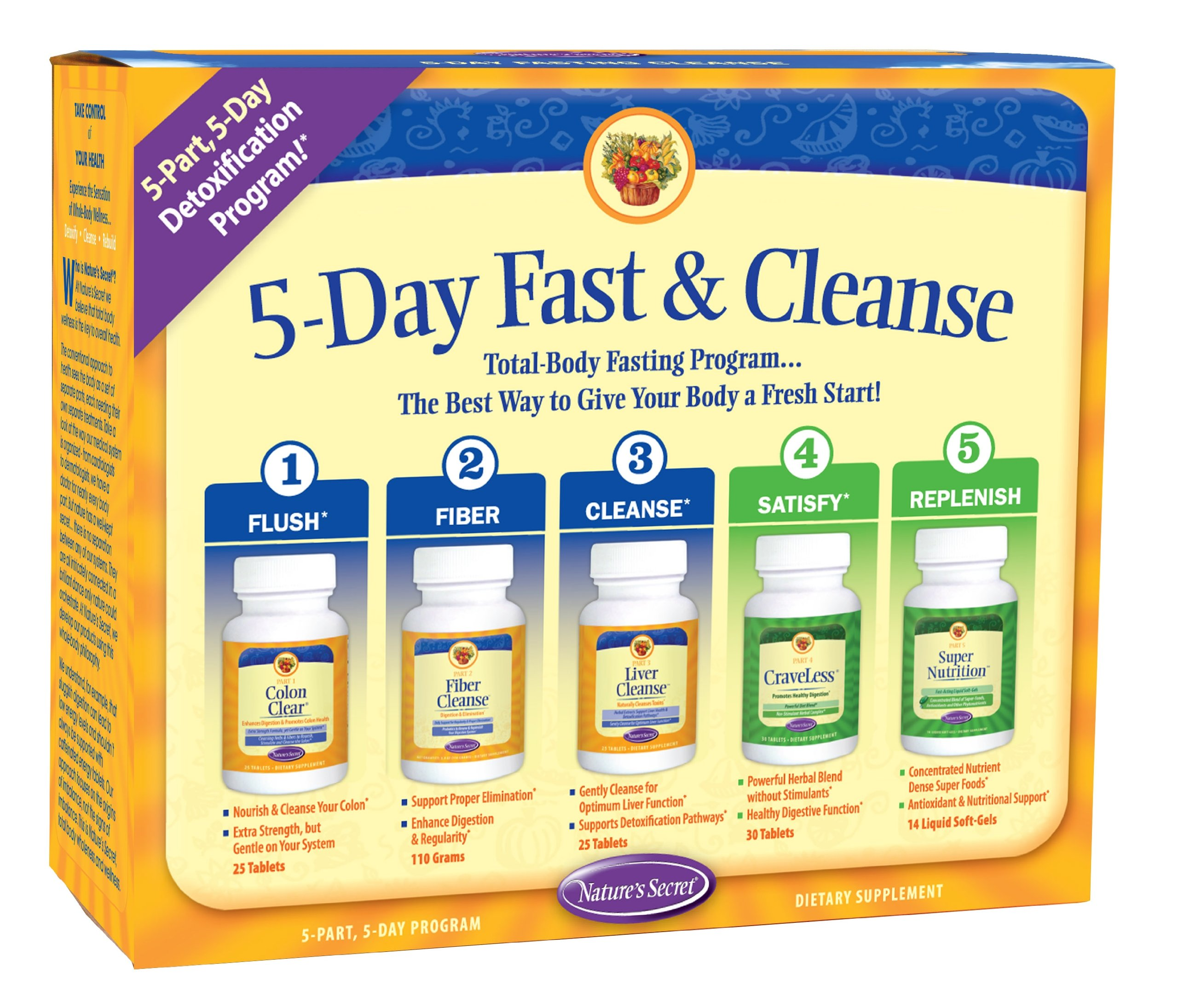 5-Day Fast & Cleanse by Nature's Secret | 5 Day, 5 Part Program by Nature's Secret
