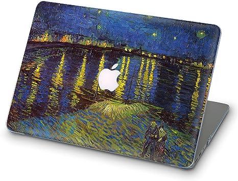ZVStore Estuche para MacBook Van Gogh Diseño de arte Estuche rígido de plástico con protección para MacBook (Pro Retina 13 (A1502 y A1425), La noche estrellada sobre el Ródano): Amazon.es: Electrónica