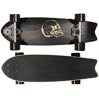 SportPlus - Skateboard Carver - Roulement à Billes ABEC-7 - en Bois d'Érable - Concave Single Kick - Longueur env. 70 cm