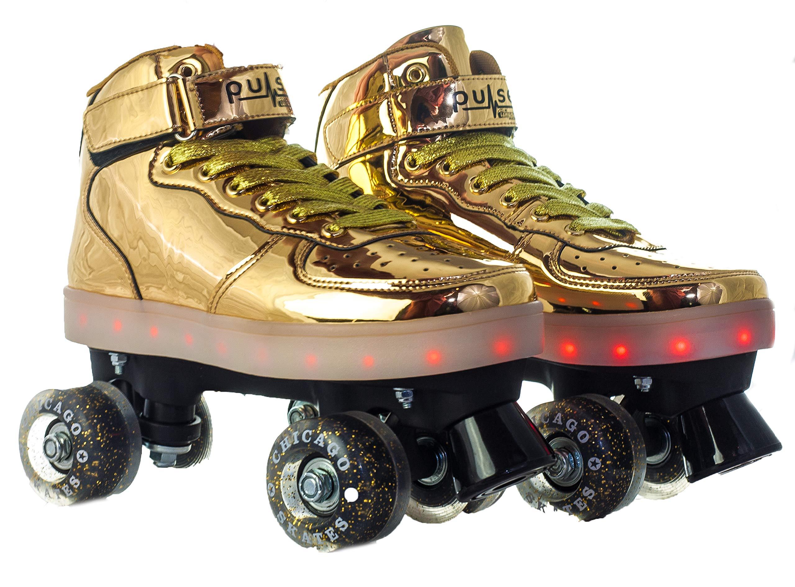 Pulse Skates Roller Skates Gold Size 5