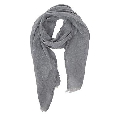 7fc5886b5bf Grey Scarf | 100% Linen Scarf | Scarves For Women | Mens Scarf ...