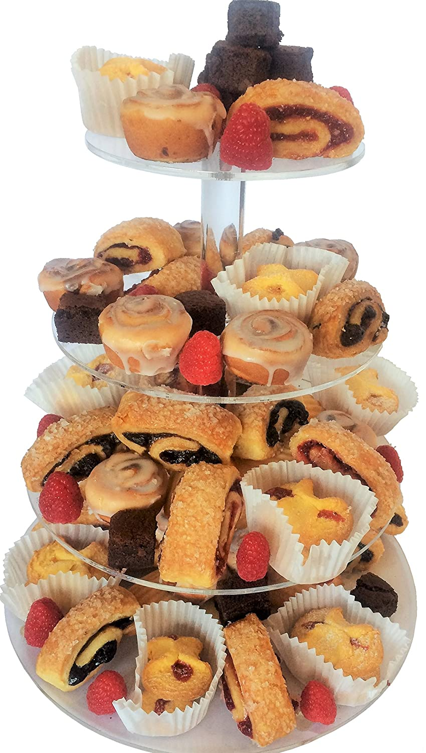 Cupcake Stand - 4 Tier - Beautiful Dessert Tower and Clear Acrylic Party Cake Tower! by Jiva Organic   B00NP4YZZ4