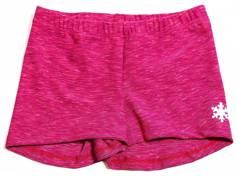 Space Dye体操またはダンストレーニングShorty Shorts – 5色から選択 B06XX631SF Fuchsia Trim Small