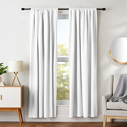 Image result for white blackout curtains