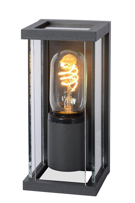 Lucide Claire Mini-Wandleuchte Außen-Ip54, Aluminium, E27, 15 W, schwarz, 9 x 11 x 20 cm