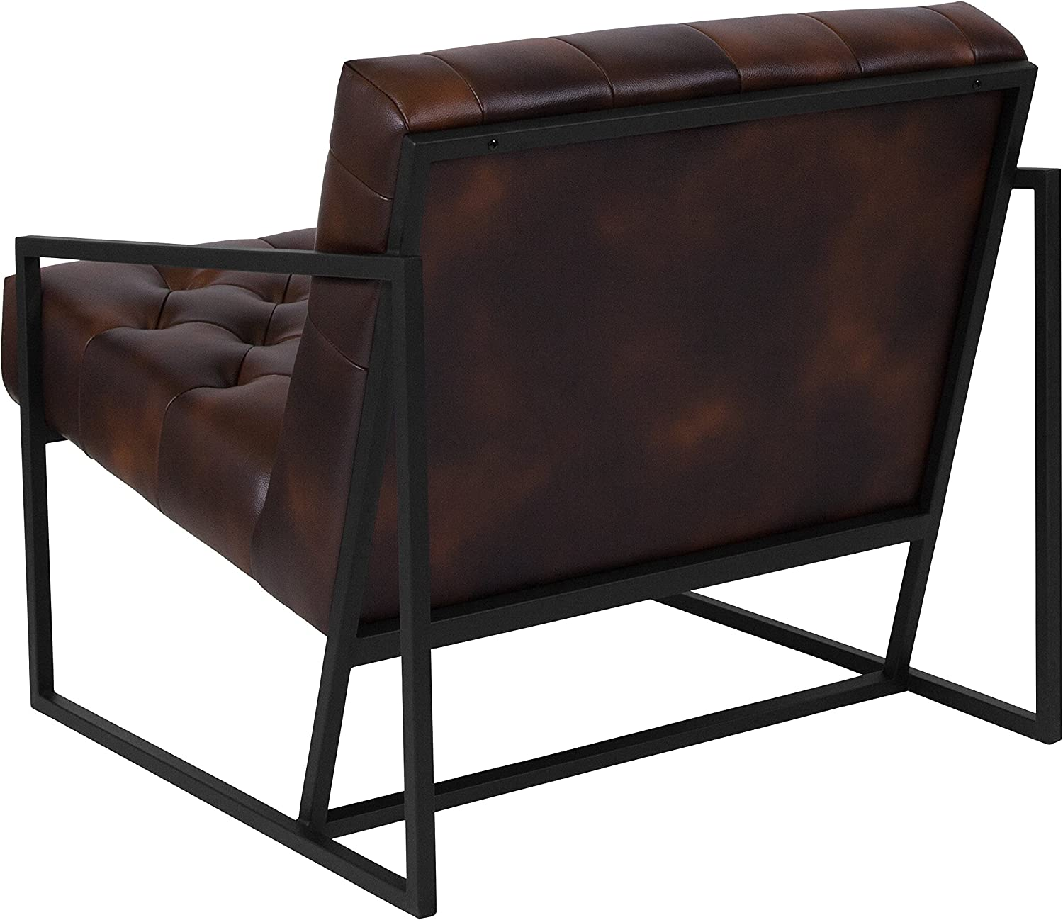 Flash Furniture HERCULES Madison Series Bomber Jacket Leather Tufted Lounge Chair