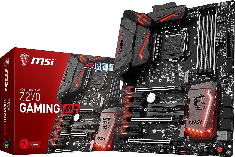 MSI Enthusiastic Gaming Intel Z270 DDR4 VR Ready HDMI USB 3 ATX Motherboard (Z270 GAMING M7)