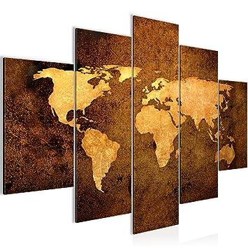 Bilder Weltkarte World Map Wandbild 150 X 100 Cm Vlies   Leinwand Bild XXL  Format Wandbilder