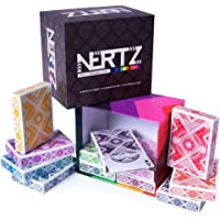 Brybelly Nertz: The Fast Frenzied Fun Card Game - 12 Decks of Playing Cards in 12 Vibrant Colors, Bulk Set of Poker Wide…