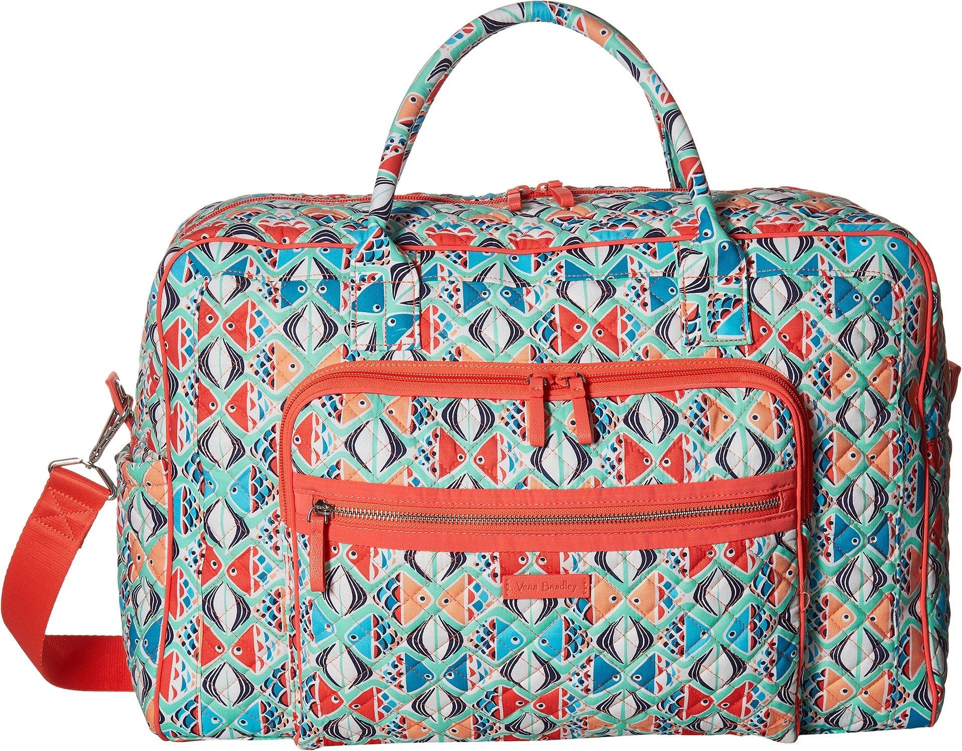 Vera Bradley Iconic Weekender Travel Bag, Signature Cotton, Go Fish, One Size