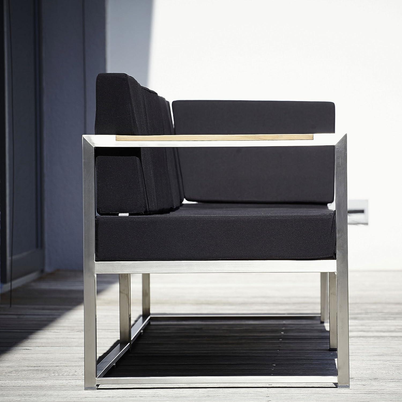 Lux Lounge Eckelement schwarz 67 x 67 cm, h 62 cm