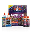 Elmer's Confetti Slime Kit | Slime Supplies Include Metallic Glue, Clear Glue, Confetti Magical Liquid Slime Activator, 4 Count