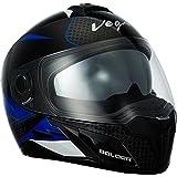 Vega Ryker Bolder Full Face Helmet (Black/Blue, M)
