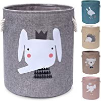 AXHOP Foldable Laundry Basket, Toy Basket Storage Baskets for Kids, Dog, Toys, Clothes, Room Décor. Cute Animal Laundry…