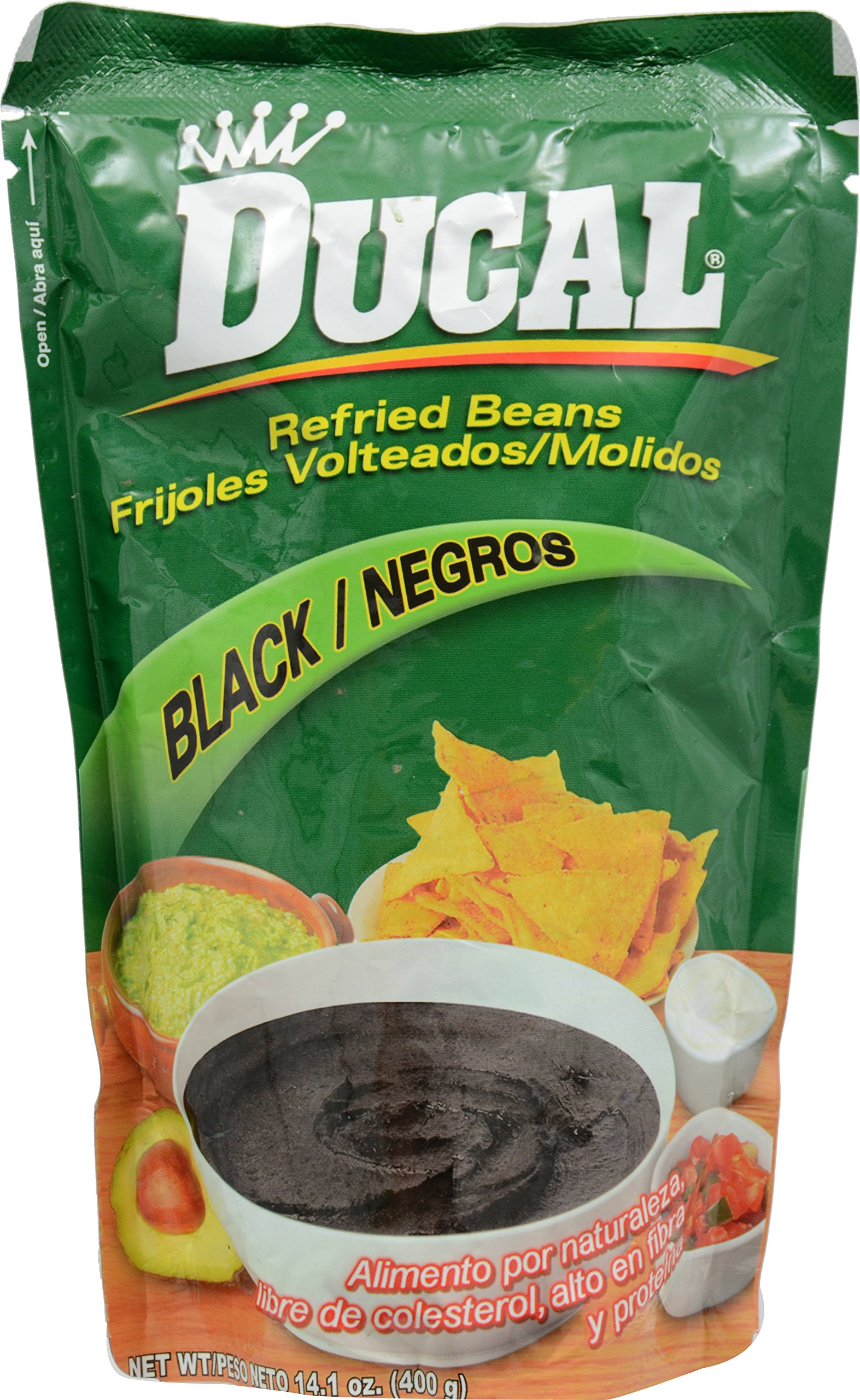 Ducal Black Refried Beans Pouch, 14.1 Ounce (Pack of 18) by Goya