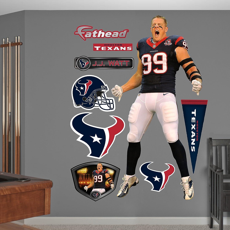 Amazon.com : NFL Houston Texans J.J. Watt Entrance Wall Graphics : Sports  Fan Wall Banners : Sports U0026 Outdoors Part 89