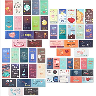 Paper Junkie 60-Pack Romantic Inspirational Lunch Box Love Notes for Husband, Wife, Adults, 60 Card Designs, 2 x 3.5 Inches: Office Products