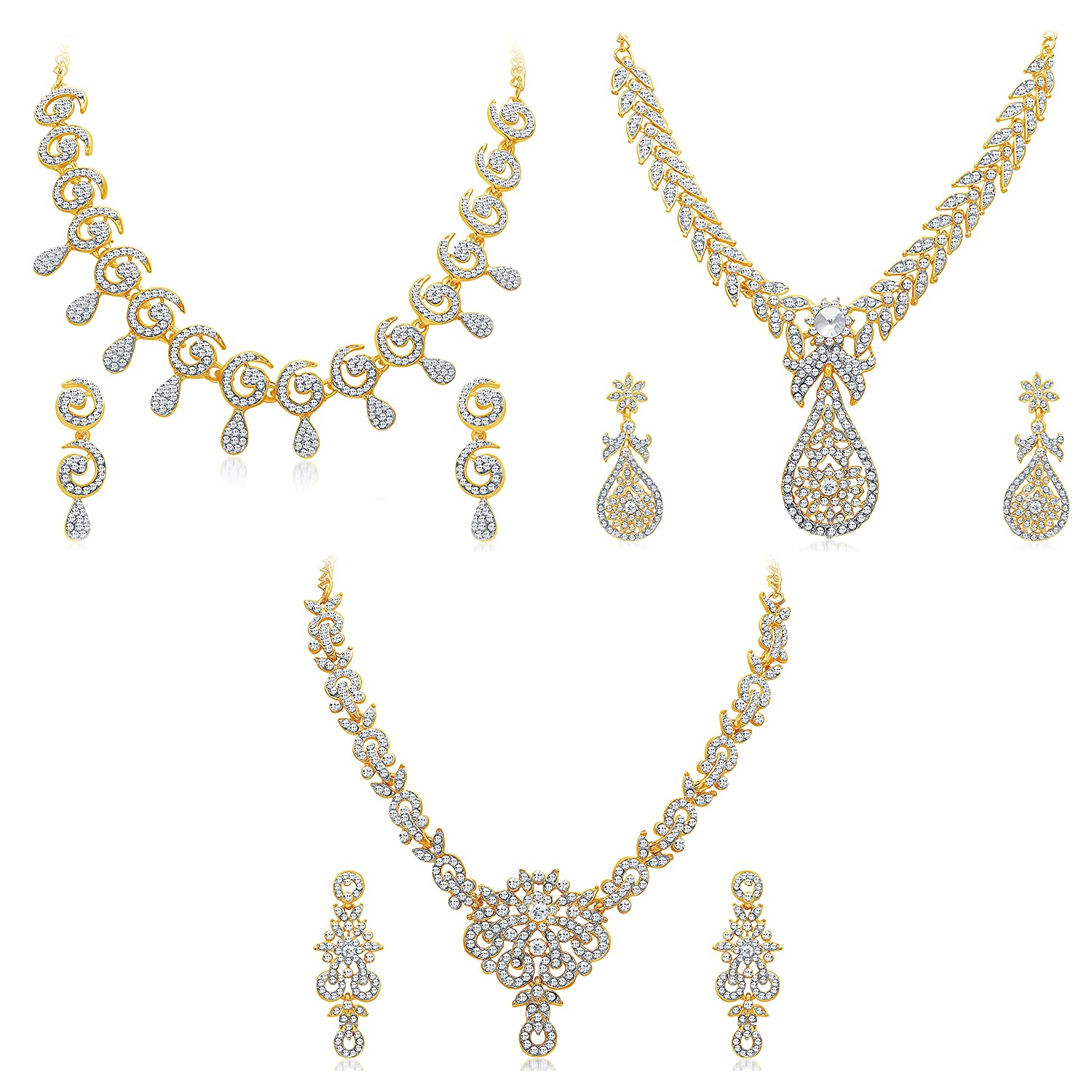 plated gold earrings product collection jewelry set traditional indian necklace temple