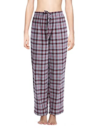 CYZ Women's 100% Cotton Super Soft Flannel Plaid Pajama/Louge ...